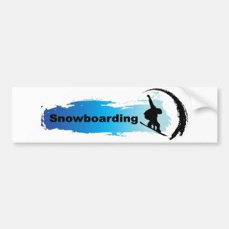 Unique Snowboarding Bumper Sticker