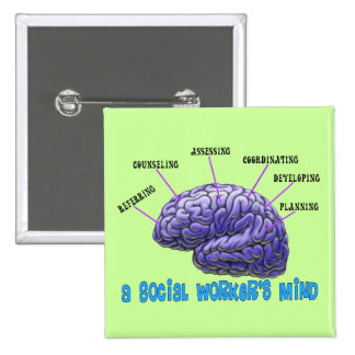Unique Social Worker Gifts-A Social Worker s Mind Button