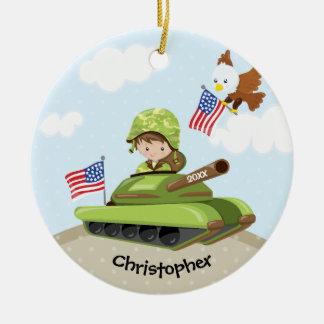Unique Soldier Boy Christmas Ornament