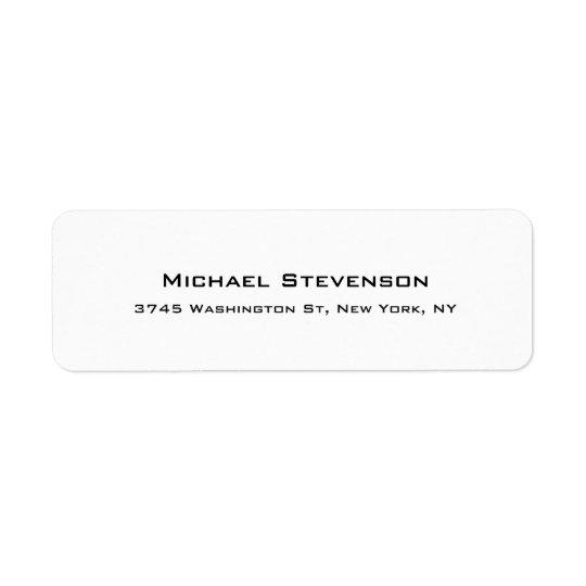 Unique Special Legible White Return Address Label