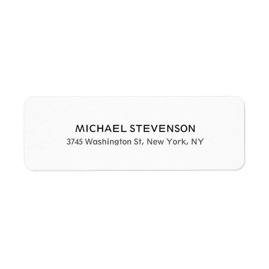 Unique Special Personal Return Address Label