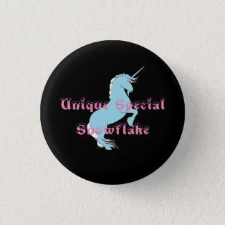 Unique Special Snowflake Unicorn Button