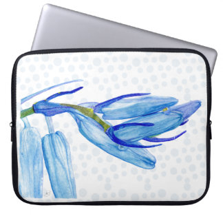 "Unique Spring Bluebell Painting 15"" Laptop Sleeve"