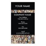 Unique Stones Black Business Card