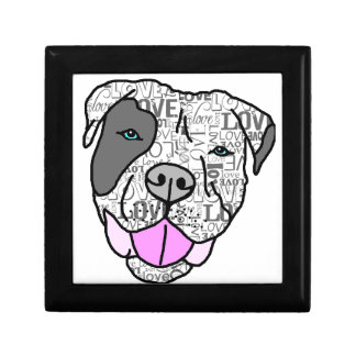 Unique & Stylish Pit Bull Love Graphic Keepsake Box