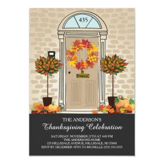 Unique Thanksgiving Celebration Dinner Party Card