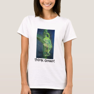 Unique Think Green Frog Global Warming Customized T-Shirt