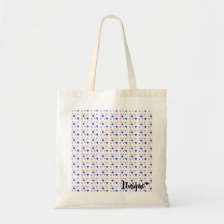 Unique tote in pastel colors (circles - geometric)