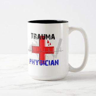 Unique Trauma Physician T-Shirts and Gifts Two-Tone Coffee Mug