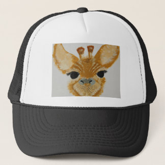 Unique Trendy Modern Eye Catching design Giraffe Trucker Hat