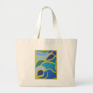 Unique Trendy Modern Eye Catching design Large Tote Bag