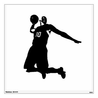 Unique Trendy Pop Art Basketball Player Wall Decal