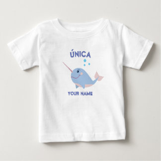 """Unique/única"" Baby T-Shirt with Narwhal"