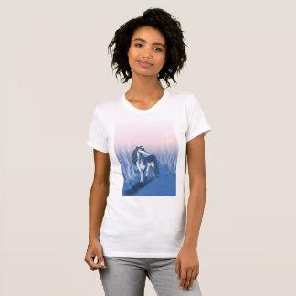 Unique Unicorn In Blue Forest T-Shirt