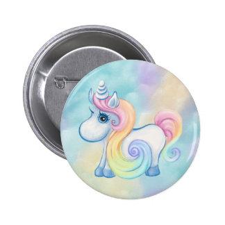 Unique Unicorn Pastel Cloud 2 Inch Round Button