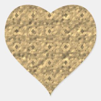 Unique unusual nice pattern heart sticker