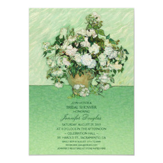 Unique Van Gogh Roses Floral Bridal Shower Card