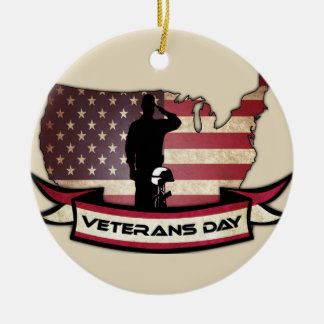 Unique Veterans Day honors Circle Ornament
