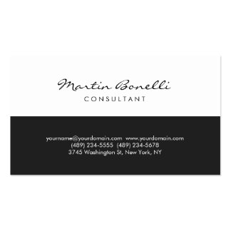 Unique White Minimalist Consultant Business Card
