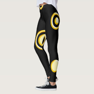 Unique Yellow Polka Dots Pattern Leggings