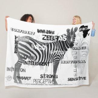 Unique Zebras Fleece Blanket