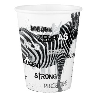 Unique Zebras Paper Cup