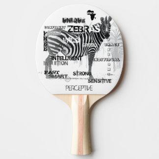 Unique Zebras Ping Pong Paddle