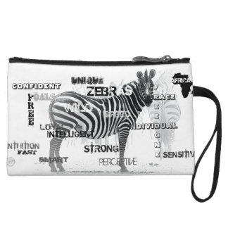 Unique Zebras Wristlet