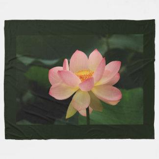 Unique Zen Garden Pink Lotus Flower Fleece Blanket