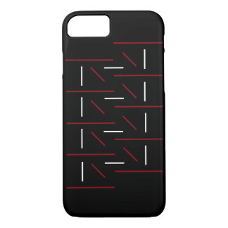 Uniquely Cool Red, Black & White Line Pattern iPhone 8/7 Case