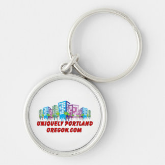 Uniquely Portland Oregon Keychain