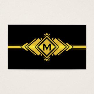 Uniquely You: A Gold Art Deco Custom Business Card