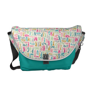Unisex ABC Alphabet Nappy Baby Messenger Bag
