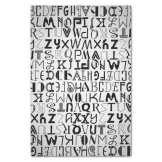 Unisex Alphabet Typography Tissue Paper