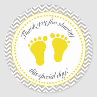 Unisex Baby Shower Sticker
