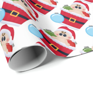Unisex Baby's First Christmas wrapping paper