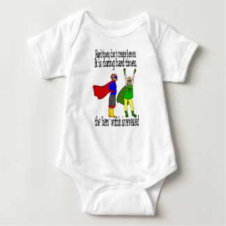 unisex babysuit Kids can be heroes Baby Bodysuit