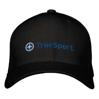 Unisex Black and Blue True Sport Fitted Hat
