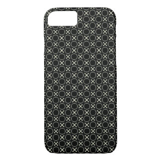 Unisex Black and White X & O Pattern iPhone 7 Case