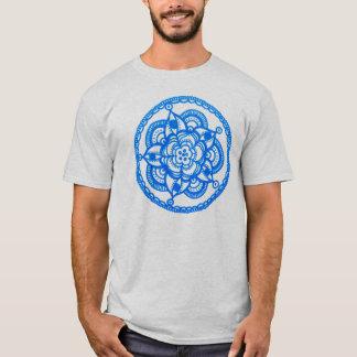 Unisex Blue Mandala T-Shirt By Megaflora