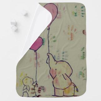 Unisex custom baby blanket/ Handprints Baby Blanket