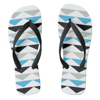Unisex Geometric Print Flip Flops