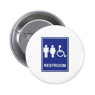 Unisex Handicap Restroom without Text Pinback Button