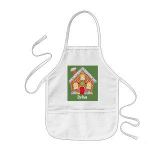 Unisex kids customizable baking gingerbread apron