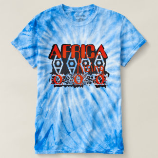 Unisex Orange Blue Graphic Tie Dye Top