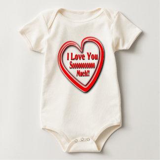 Unisex organic babysuit with Love text Baby Bodysuit