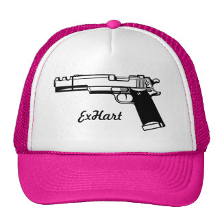 Unisex Pistol Trucker Cap Mesh Hat