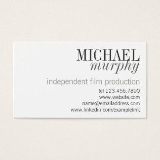 Unisex Professional Classic Modern Business Card