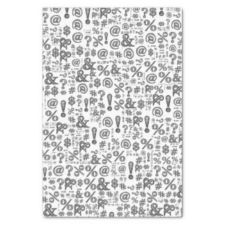 Unisex Punctuation Typography Tissue Paper