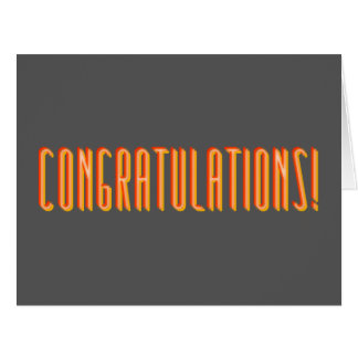 Unisex Sarcastic Congratulations Greeting Card